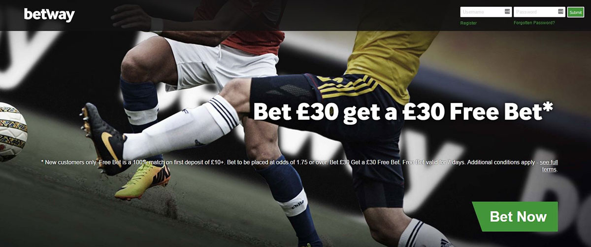 free bet in Betway app